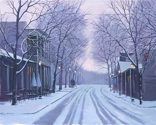 Alexei Butirskiy - Canton Street in Winter
