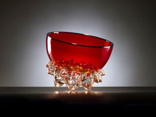 Andrew Madvin - Cherry Red Thorn Vessel