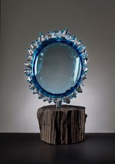 Andrew Madvin - Steel Blue Thorn Sculpture
