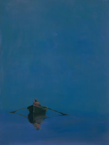Anne Packard - Rowboat on Blue