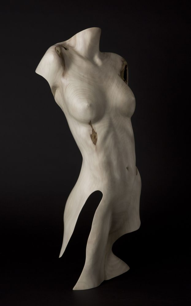 Chad Awalt Sculptures - Mora Sycamore Wood Sculpture