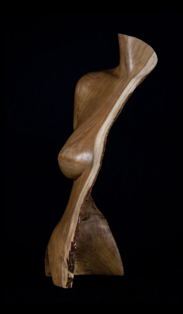 Chad Awalt - Osage Spirit Orange Osage Wood Sculpture