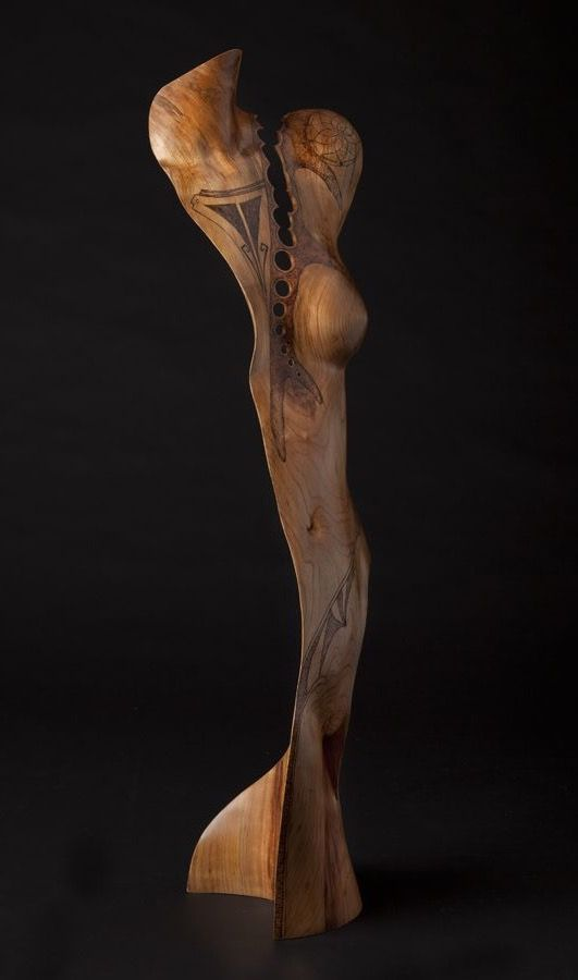 Chad Awalt - Pinga Cherry Wood Sculpture