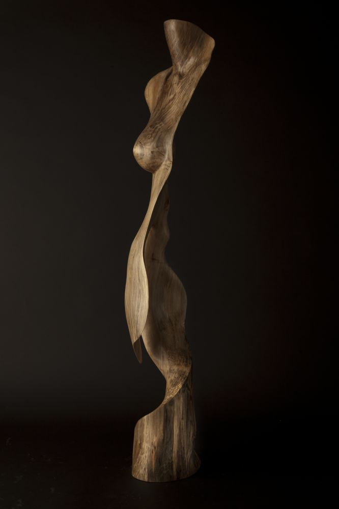 Chad Awalt Sculptures - Someones Thoughts Maple Wood Sculpture