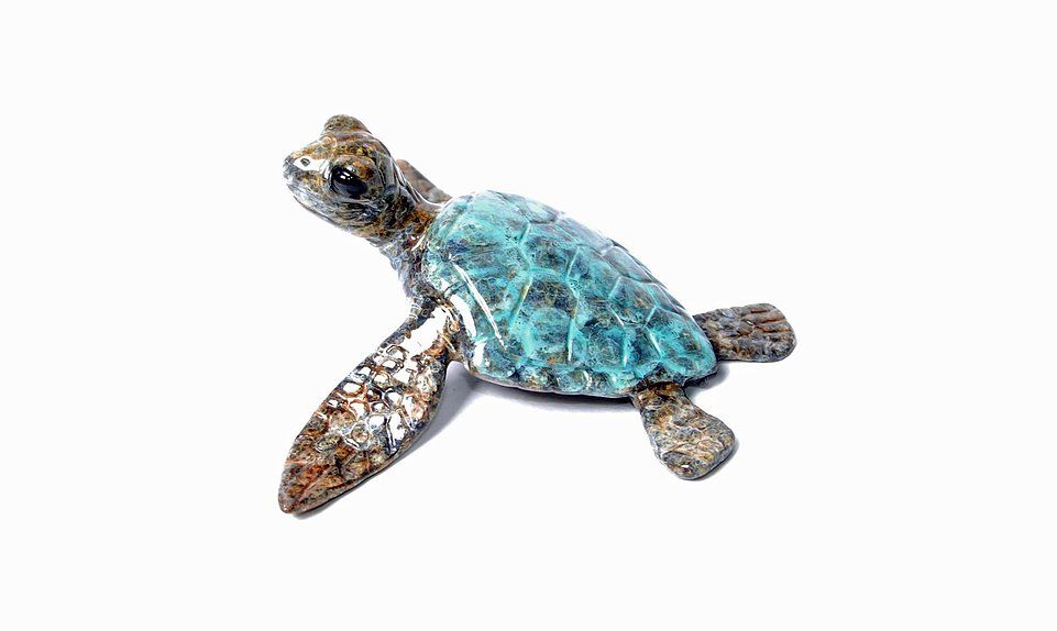 Chris Barela Sculptures - Lil' Flipper, Blue