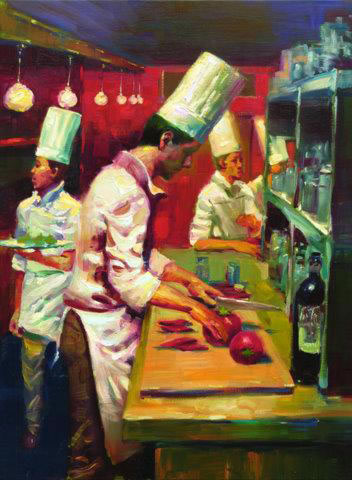 Christopher M Limited Edition Giclees - Cuisine Avec Le Vin (Cooking with Wine)