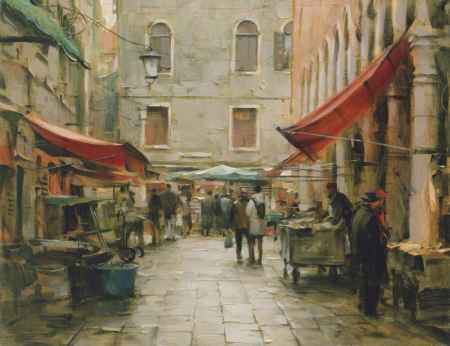 Dmitri Danish Limited Edition Giclee - Afternoon in the Market