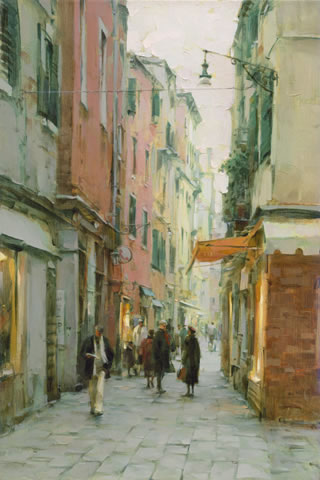 Dmitri Danish Limited Edition Giclee - Afternoon Stroll