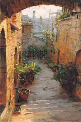 Dmitri Danish Limited Edition Giclee - Assisi Courtyard