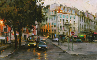 Dmitri Danish Original Oil - City Town
