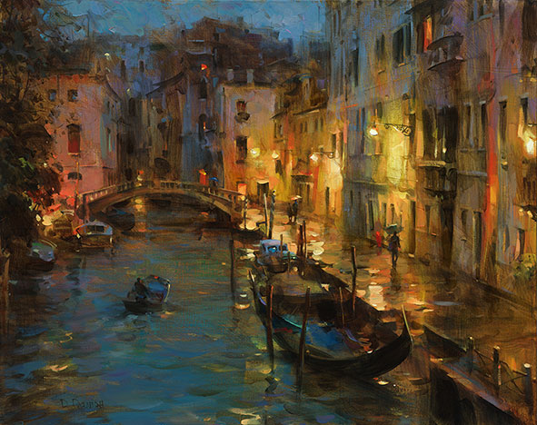 Dmitri Danish Limited Edition Giclee - Drizzle in Venice