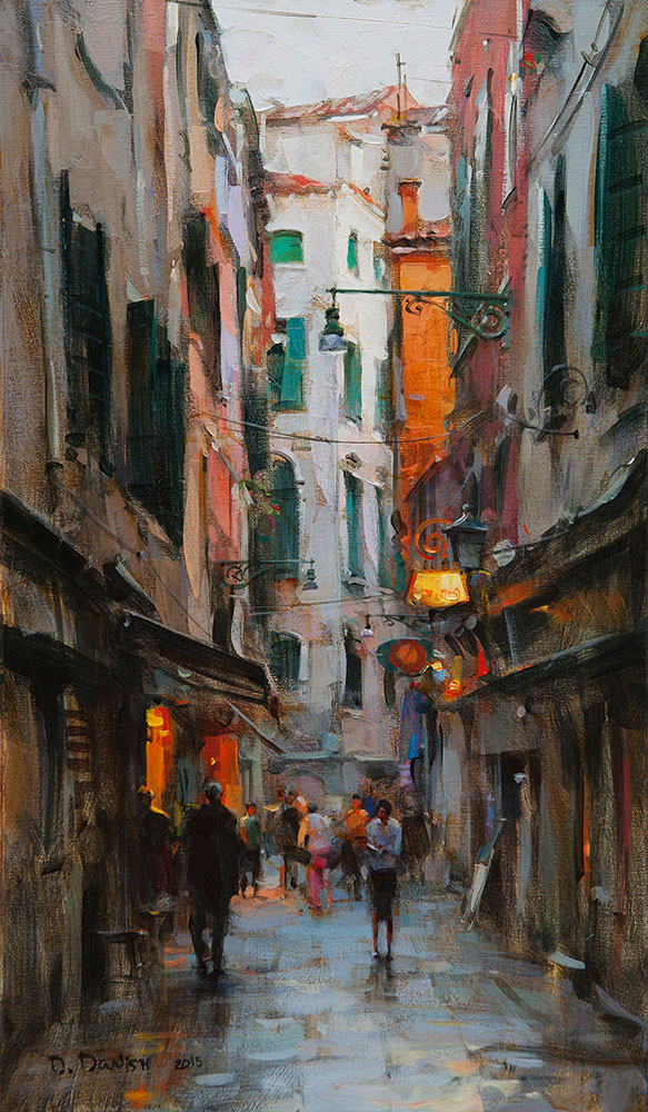 Dmitri danish 2015 show originals early twilight venice for Atlanta oil painting artists