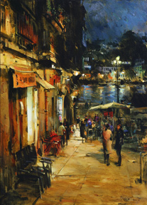 Dmitri Danish Original Oil - Evening Porto