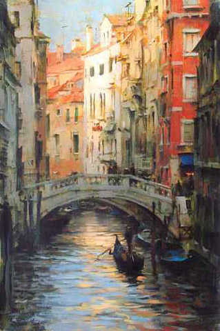 Dmitri Danish Limited Edition Giclee - Gondola Reflections