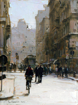Dmitri Danish Original Oil - Milan Motiff I