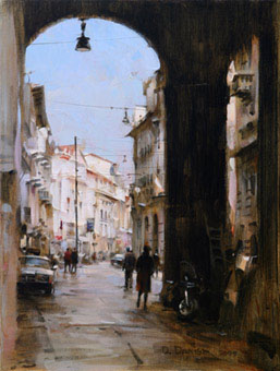 Dmitri Danish Original Oil - Milan Motiff Ii