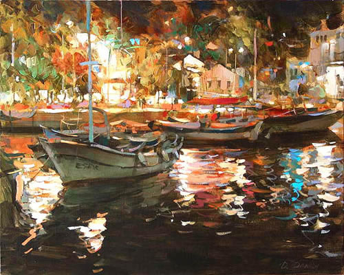 Dmitri Danish Limited Edition Giclee - Night in Port