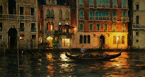 Dmitri Danish Limited Edition Giclee - Night on the Grand Canal