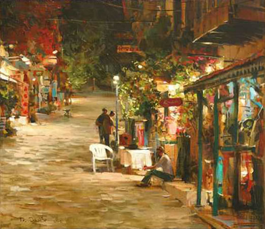 Dmitri Danish Limited Edition Giclee - Night Town