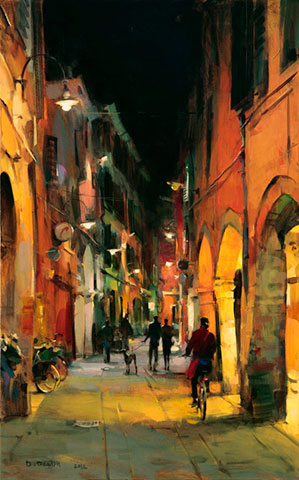 Dmitri Danish Original Oil - Old Ferrara
