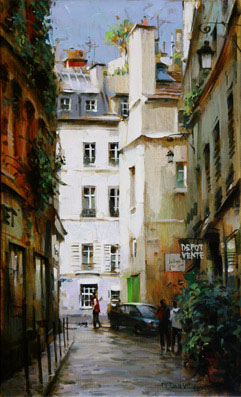 Dmitri Danish Original Oil - Paris Corner