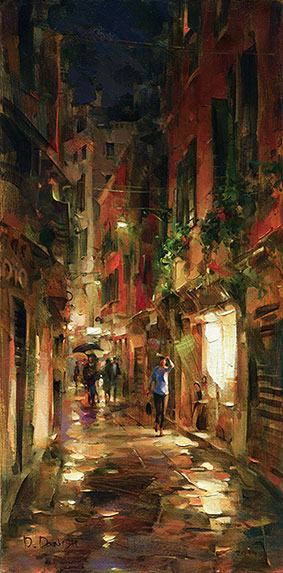 Dmitri Danish Limited Edition Giclee - Street at Night