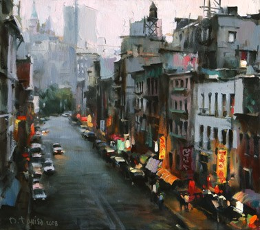 Dmitri Danish Original Oil - Street In New York