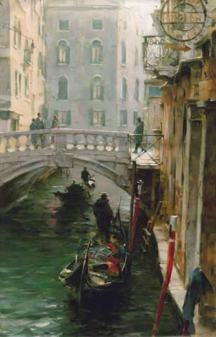 Dmitri Danish Limited Edition Giclee - Wintertime in Venice