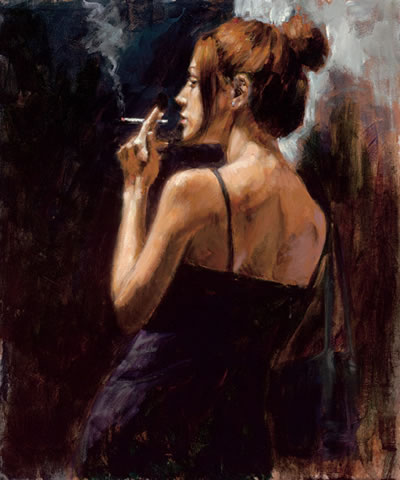 Fabian Perez - Full Moon, Empty Heart