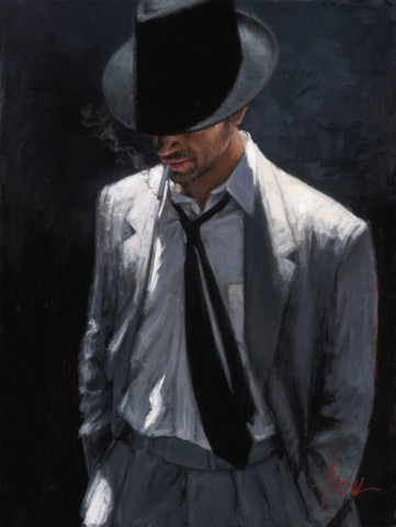 Fabian Perez - Man in Black Suit IV