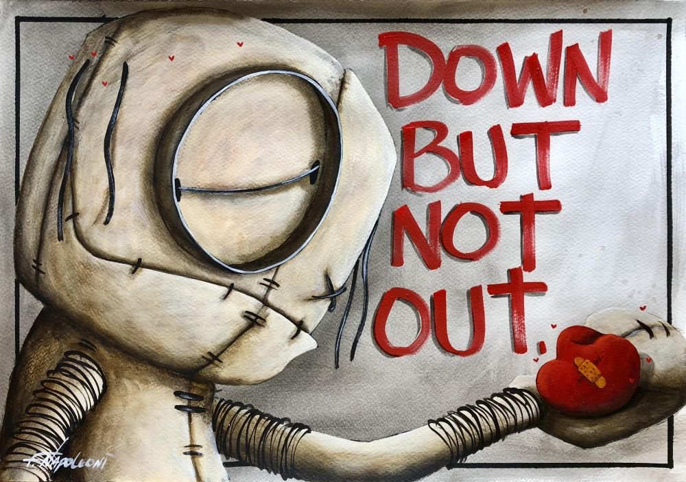 Fabio Napoleoni - Down But Not Out, paper