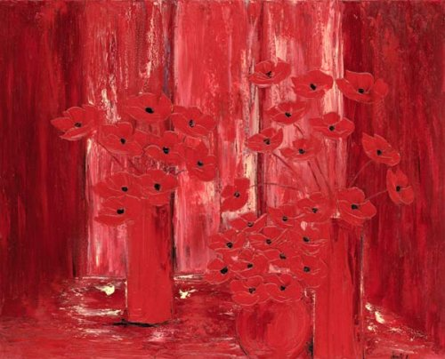JalinePol's - The Red Curtain Falls in a Hall of Flowers