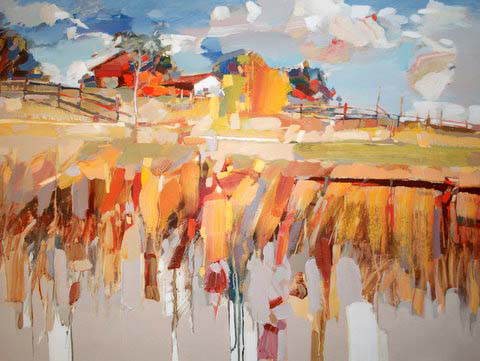 Josef Kote - Fence and Barn