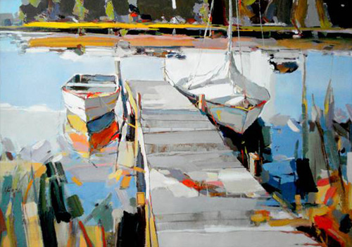 Josef Kote Original Acrylics on Canvas - Still Morning