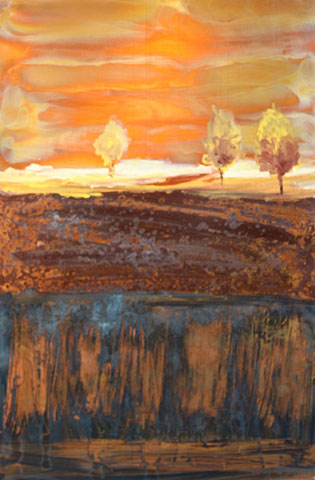 Ken Rausch Copper - Cream Landscape