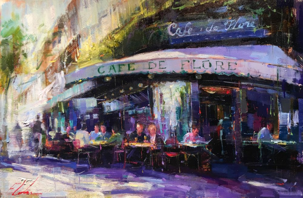 "Michael Flohr's Limited Edition Giclees ""Cafe de Flore"" - Featured ..."