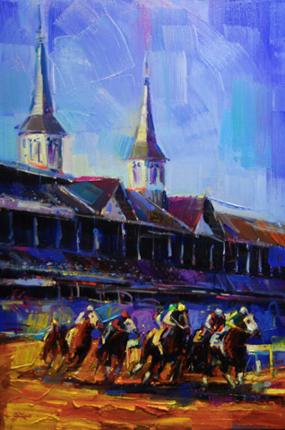 Michael Flohr Original Oils on Canvas - Kentucky Derby