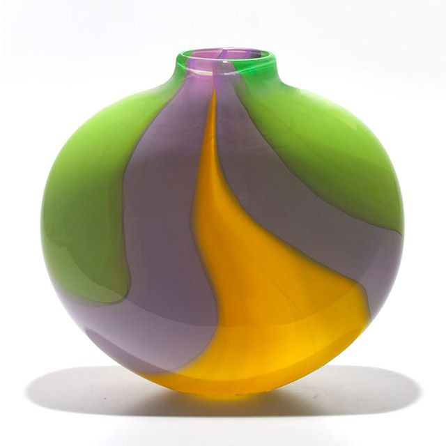 Michael Trimpol - Opaque Ribbon Flat in Lime Violet Yellow