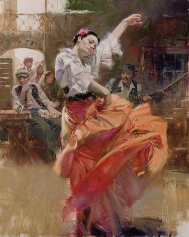 Pino - Flamenco in red