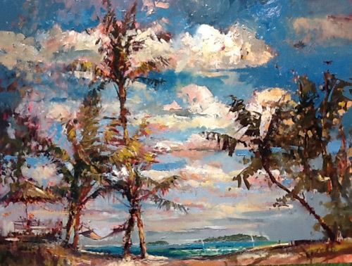 Steven Quartly Original Oils - A Day at the Beach