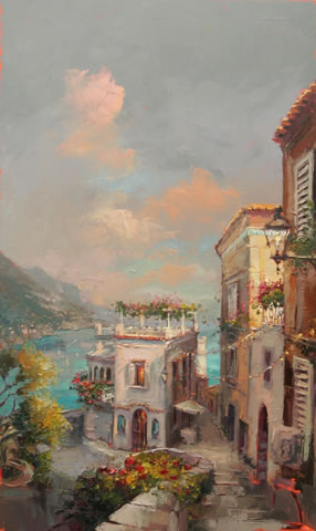 Steven Quartly Limited Edition Giclee - Amalfi Daybreak