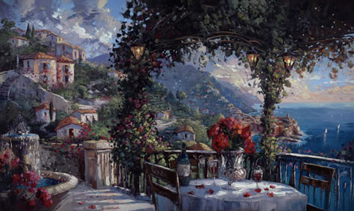 Steven Quartly Limited Edition Giclee - Cinque Terre Sunset