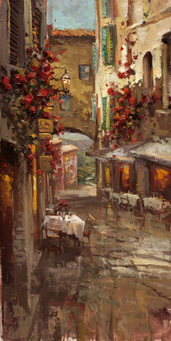 Steven Quartly Limited Edition Giclee - Sera A Siena