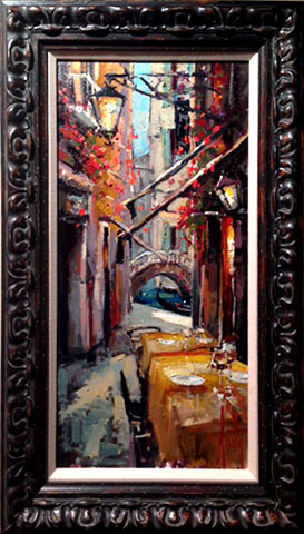 Steven Quartly Original Oil - Venice Evening