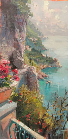 Steven Quartly Original Oil - Via Dei Navigante