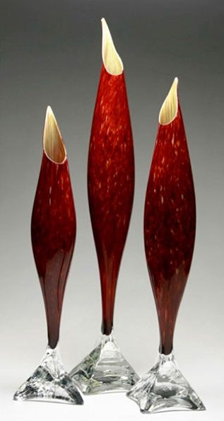 Willsea O'Brien - Ruby Fish Vase
